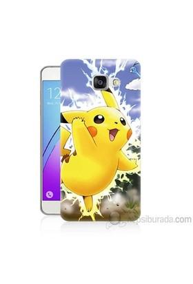 Teknomeg Samsung Galaxy A5 2016 Kapak Kılıf Pokemon Pikachu Baskılı Silikon