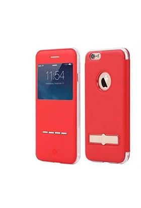 Totu Design Apple iPhone 6/6S 4.7 Manyetik Kapaklı Deri Kılıf