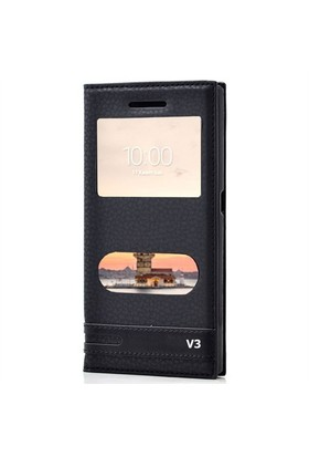 KılıfShop Vestel Venüs V3 5040 Pencereli Kılıf