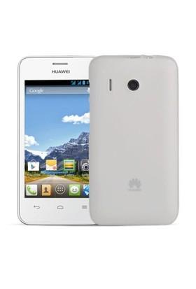 Microsonic Transparent Soft Huawei Ascend Y320 Kılıf Beyaz