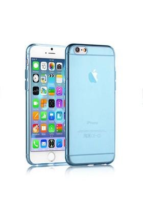 Microsonic Slim Transparent Soft İphone 6 Plus (5.5'') Kılıf Mavi