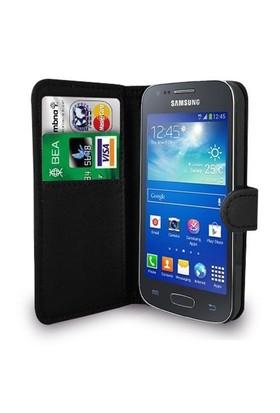 Microsonic Cüzdanlı Deri Samsung Galaxy Ace 4 Kılıf Siyah