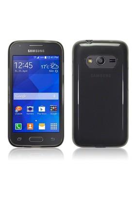 Microsonic Transparent Soft Samsung Galaxy Ace 4 Kılıf Siyah