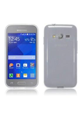 Microsonic Transparent Soft Samsung Galaxy Ace 4 Kılıf Beyaz