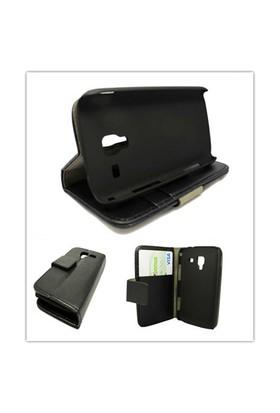 Microsonic Cüzdanlı Standlı Deri Kılıf - Samsung Galaxy Ace 2 İ8160 Siyah