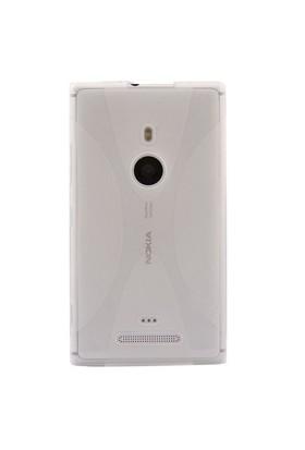 Vacca Nokia Lumia 925 Medium Hard Case Daily Şeffaf Kapak