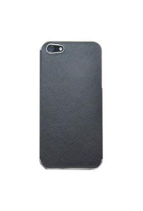 Duck Apple iPhone 5 Metal Çerçeve - Business Class Black - Siyah Kapak