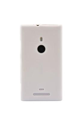 Resonare Microsoft Lumia 925 Silikon Kilif Dalga Desenli Beyaz Kapak