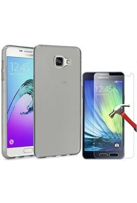 Kılıfshop Samsung Galaxy A7 2016 Silikon Kılıf + Ekran Koruyucu