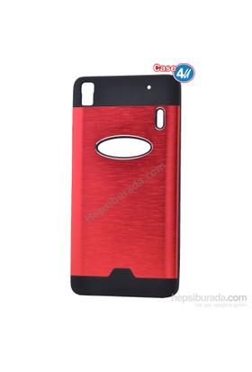 Case 4U Lenovo A7000 Moto Sert Arka Kapak Kırmızı