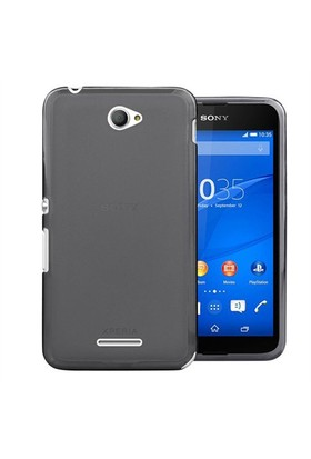 Case 4U Sony Xperia E4 Ultra İnce Silikon Kılıf Siyah