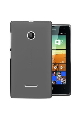 Microsonic Microsoft Lumia 532 Kılıf Transparent Soft Siyah