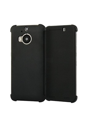 Microsonic Htc One M9+ Plus View Cover Dot Kapaklı Akıllı Modlu Siyah