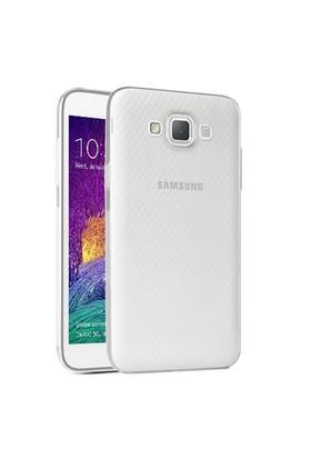 Microsonic Samsung Galaxy Grand Max Kılıf Transparent Soft Beyaz