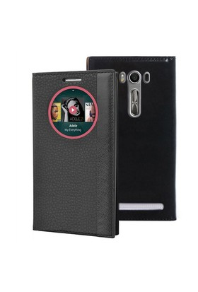 Microsonic Asus Zenfone Selfie Kılıf Gizli Mıknatıslı View Delux Akıllı Siyah