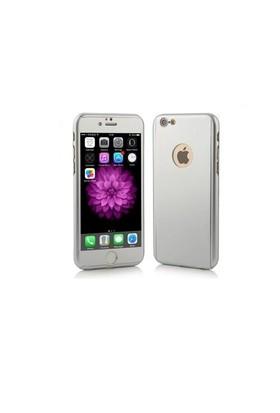 Ksp Apple iPhonde 6 Plus/6S Plus Kılıf 360 Derece Tam Koruma Gümüş