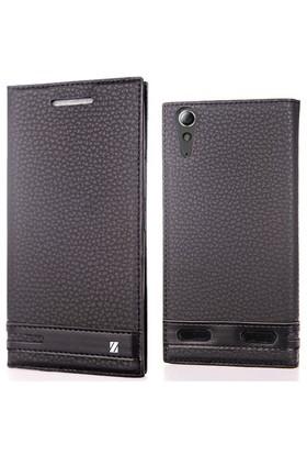 Coverzone Lenovo A6000 Kılıf Elite Kapaklı Deri Siyah