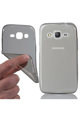 CoverZone Samsung Galaxy Core Prime Kılıf 0.3Mm Silikon Antrasit