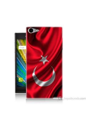 Teknomeg Casper Via V9 Kapak Kılıf Türkiye Bayrağı Baskılı Silikon