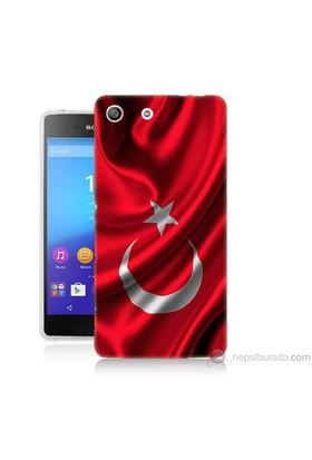 Teknomeg Sony Xperia M5 Kapak Kılıf Türkiye Bayrağı Baskılı Silikon