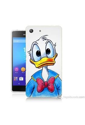 Teknomeg Sony Xperia M5 Kapak Kılıf Donald Duck Baskılı Silikon