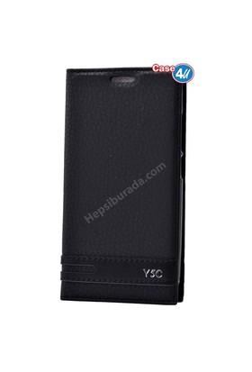 Case 4U Huawei Y5c Gizli Mıknatıslı Kapaklı Kılıf Siyah