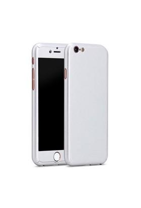 Cep Market Apple İphone 6/6S Plus Kılıf 360 Derece Full Body Mika Kılıf - Gümüş