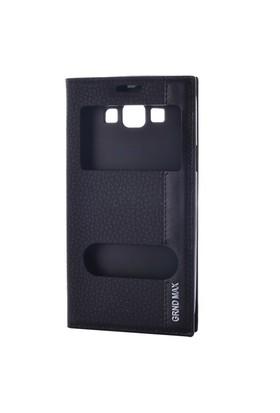 Gpack Samsung Grand Max Kılıf Pencereli Mıknatıslı Magnum - Siyah