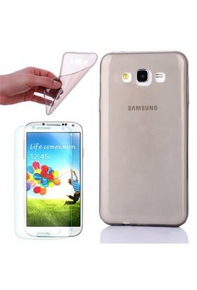 Gpack Samsung Galaxy Core Prime Kılıf 0.2Mm Antrasit Silikon - Cam