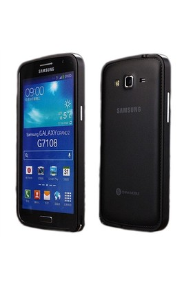 Microsonic Samsung Galaxy Grand 2 Thin Metal Bumper Kılıf Siyah