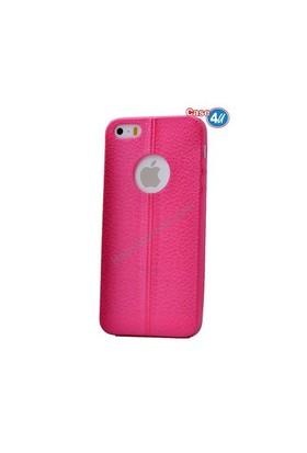 Case 4U Apple İphone 5S Parlak Desenli Silikon Kılıf Pembe