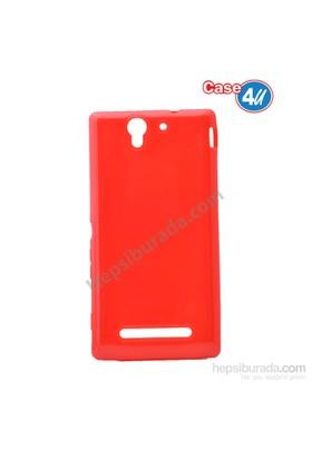 Case 4U Sony Xperia C3 Ultra İnce Silikon Kılıf Kırmızı*
