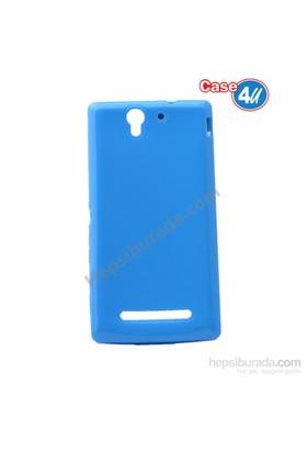 Case 4U Sony Xperia C3 Ultra İnce Silikon Kılıf Mavi