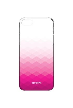 Aprolink Apple iPhone 6 Gradient Yari Ultra İnce Şeffaf Kılıf Pembe - I6PP10PK