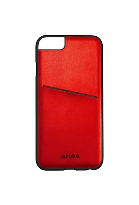 Aprolink Apple iPhone 6 PLUS Origami Makaron Kart Cepli Kılıf Kırmızı - I6PDD20RD