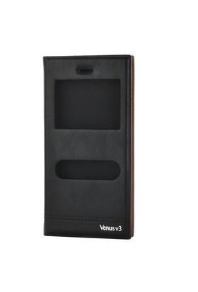 Gpack Vestel V3 5040 Kılıf Pencereli Kapaklı Milano - Siyah