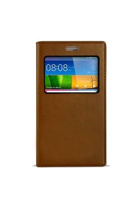 Fitcase Dolce Huawei Gr5 Gizli Mıknatıslı Pencereli Kılıf Gold