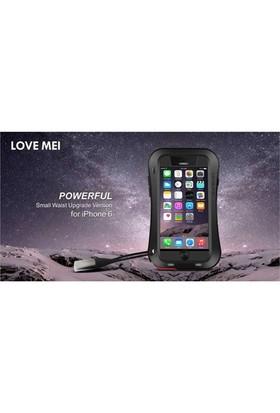 Markacase Apple İphone 6 4,7 Darbe Dayanıklı Metal Kılıf Lovemeı