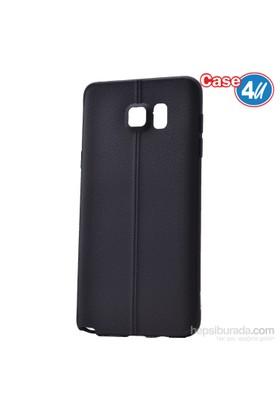 Case 4U Samsung Galaxy Note 5 Desenli Silikon Kılıf Siyah