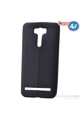 Case 4U Asus Zenfone 2 Laser Ze601kl Desenli Silikon Kılıf Siyah