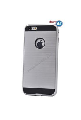 Case 4U Apple İphone 5 Korumalı Kapak Gümüş