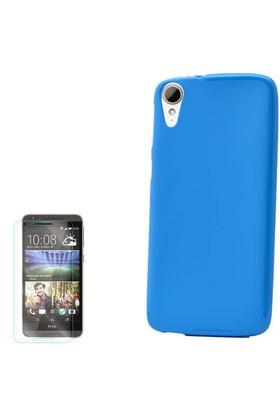 Gpack Htc Desire 828 Kılıf Süper Silikon + Cam