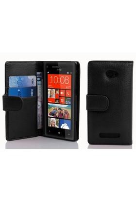 Microsonic Cüzdanlı Deri Htc Windows Phone 8X Kılıf Siyah