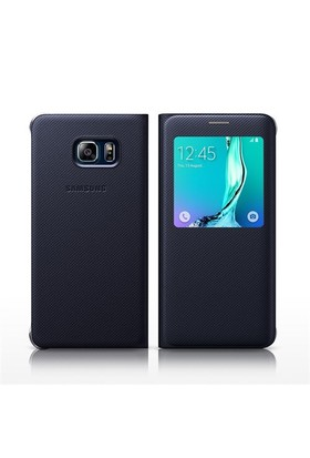 Kılıfshop Samsung Galaxy S6 Edge Plus S View Cover Lacivert