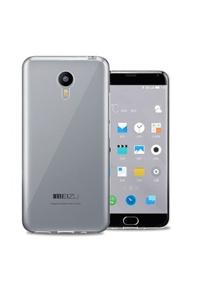 Case 4U Meizu M2 Note Ultra İnce Silikon Kılıf Şeffaf