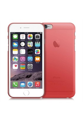Case 4U Apple İphone 6 Ultra İnce Silikon Kılıf Kırmızı