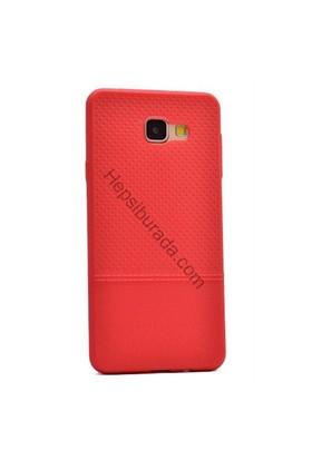 Case 4U Samsung A510 Galaxy A5 (2016) Matrix Desenli İnce Silikon Kılıf Kırmızı