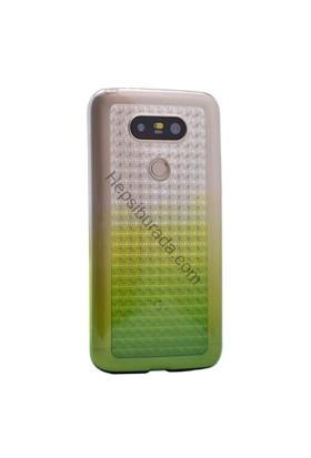 Case 4U Lg G5 Galaxy Desenli Şeffaf Silikon Kılıf Yeşil