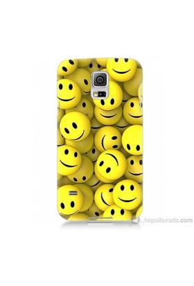 Teknomeg Samsung Galaxy S5 Mini Kapak Kılıf Smile Baskılı Silikon
