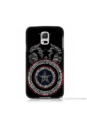 Teknomeg Samsung Galaxy S5 Mini Kapak Kılıf Kaptan Amerika Baskılı Silikon